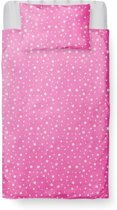 Dekbedovertrek Peuter - Katoen - 120 x 150 - Roze - Little Star Pink  incl. Kussensloop