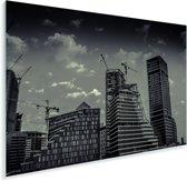 Zwart wit afbeelding van de hoge gebouwen in Riyad Plexiglas 90x60 cm - Foto print op Glas (Plexiglas wanddecoratie)