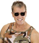 Camouflage bril voor volwassenen - Verkleedattribuut
