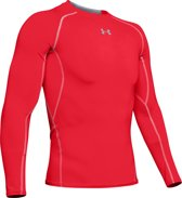 Under Armour Armour HG Long Sleeve - Sportshirt -  Heren - Maat S - Rood