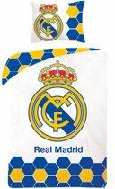 Real Madrid Logo - Dekbedovertrek Eenpersoons - 140 x 200 cm - Wit