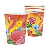 48 stuks: Set a 6 Bekertjes Flamingo - Hibiscus - 25cl