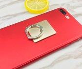 Ring vinger houder Goudkleurig vierkant / standaard voor telefoon of tablet