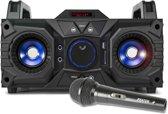 Karaoke set - Fenton MDJ95 - Karaokeset op accu met Bluetooth, USB / SD mp3 speler en microfoon met echo effect