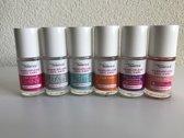 Cosmetica Fanatica - Set met 6 flesjes Nail Care - Shiny Top Coat - Matte Top Coat - Glitter Top Coat - Base Coat - Multi Active Hardener - Nail Oil - 6 flesjes met elk 8,5 ml. inhoud