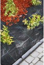 2x Zwart gronddoek/onkruiddoek 2 x 5 meter - Anti-worteldoeken/onkruiddoeken/gronddoeken voor in de groente/kruidentuin