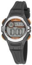 Nowley 8-6229-0-7 digitaal horloge 34 mm 100 meter zwart/ oranje