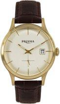 Prisma Herenhorloge P.2785 Lederen band Goud