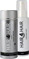 Hair4Hair, Hair fibers en Hair fiber Mist, camouflerende haarvezels met styling en fixatie spray, Middenblond, 25 gr