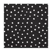 Servetten Dots Zwart / Wit 20 stuks