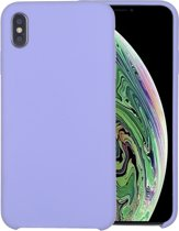 Mobigear Liquid Silicone Licht Paars iPhone Xs Max