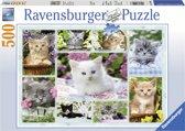 Ravensburger Puzzel Poesjes in hun mandje 500 stukjes
