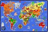 Speeltapijt Wereldkaart 95x200