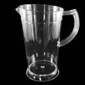 Polycarbonaat kunststof pitcher, onbreekbaar plastic - 1,8l - 1 stuk