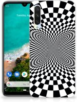 TPU Hoesje Xiaomi Mi A3 Zwart-Wit Design Illusie
