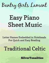 Bantry Girls Lament Easy Piano Sheet Music