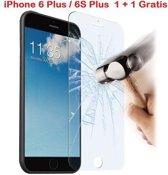 iPhone 6 Plus / 6S Plus 1 + 1 GRATIS Glazen tempered glass / Screen protector 2.5D 9H (0.3mm)