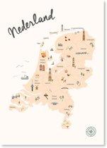 Kunst In Kaart ´s-Hertogenbosch - Stadskaart Poster A3 - Wit