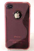 Zacht plastic backcase iphone 4/4s roze