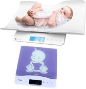 Babyweegschaal en peuterweegschaal - 2 in 1 weegschaal - tot 100KG - Baby weegschaal