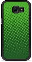 Galaxy A5 2017 Hardcase Hoesje groene cirkels