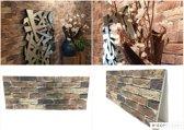 4X 3D Wanddecoratie Wandpanelen Muurdecoratie, Muur bekleding Baksteen, Natuursteen, Steenstrips