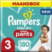 Pampers Baby-Dry Pants Luierbroekjes - Maat 3 (6-11 kg) - 180 stuks - Maandbox