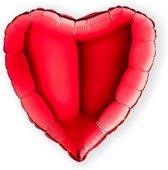 Folieballon hart rood (46cm)