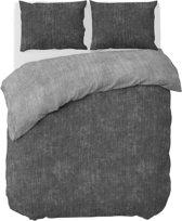 Nightlife Dekbedovertrek Washcotton 140x200/220cm - Gemengd katoen - Grijs