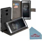 Pearlycase® Zwart Y Wallet Bookcase Hoesje voor Sony Xperia XA2