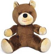 Grote teddebeer / knuffelbeer 110cm - Zachte pluche - Bruin