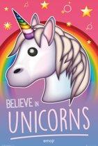 Eenhoorn-poster-Emoji-Believe in Unicorns-61x91.5cm.