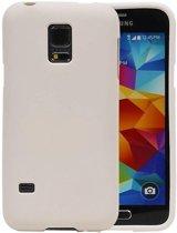 Samsung Galaxy S5 mini Hoesje Sand Look TPU Wit