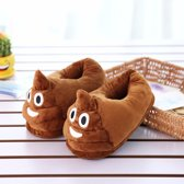 Drol Emoji Sloffen/Pantoffels - Heerlijk warm & Prachtig geborduurde Whatsapp Emoji pantoffels - One size Fits all - Bekend van Whatsapp!!