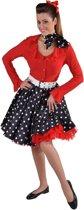Rock & Roll Kostuum   Jaren 50 Swing Rock Rok Zwart Vrouw   Small / Medium   Carnaval kostuum   Verkleedkleding