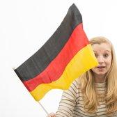 Duitse Vlag met Paal (46 x 30 cm)