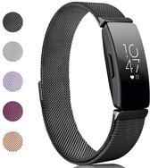 Milanese Loop Armband Voor Fitbit Inspire (HR) Horloge Band Strap - Milanees Armband Polsband - Zwart - Small