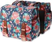 Basil Bloom Double Bag Dubbele Fietstas - 35 l - Indigo Blauw