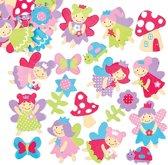 Foam stickers elfjes - knutselspullen vor kinderen scrapbooking verfraaiing voor het maken van kaarten en decoraties (120 stuks)