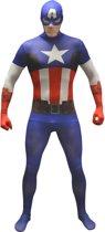 """""""Morphsuits™ Captain America kostuum voor volwassenen  - Verkleedkleding - 164/176"""""""