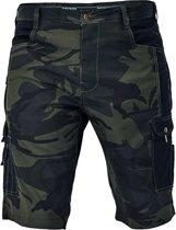 Camouflage korte broek groen maat XL