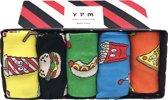 Hippe Sokken -  Gift Box - Fastfood ,  Maat 41 - 47