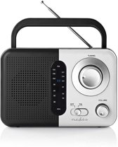FM-radio   2,4 W   Draaggreep   Zwart / wit