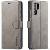 Huawei P30 Pro Hoesje - Luxe Book Case - Grijs