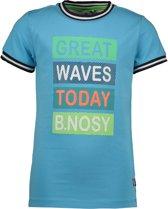 B.Nosy Jongens T-Shirt - Maya blue - Maat 146/152