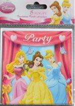 Disney Princess  5 stuks  party uitnodigingen + enveloppes ! 11 x 11 cm