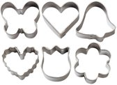 Wilton Mini Metal Romantic cutter set/6