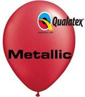 Ballonnen Metallic Robijn Rood 30 cm 100 stuks