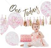 1e Verjaardag Cake Smash pakket Roze Goud - Meisje - Ginger Ray (1stuks)