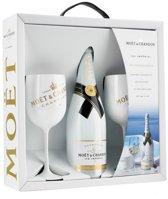 Champagne Moet Chandon Ice Imperial geschenkdoos met 2 glazen